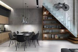 现代简约loft工业风格错层公寓装修效果图