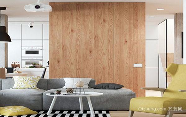 北欧风格自然舒适三居室装修效果图赏析
