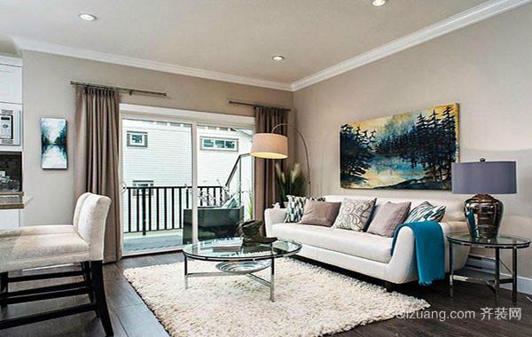 现代家居时尚创意客厅装饰画装修效果图大全