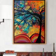 后现代风格80平米创意客厅装饰画装修效果图