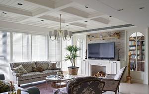 美式风格客厅电视背景墙装修