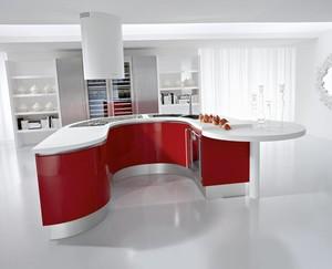 欧式三居室精美厨房橱柜设计装修效果图