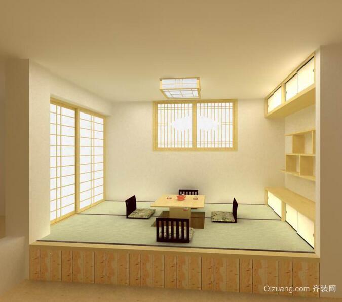大户型日式风格榻榻米室内装修效果图