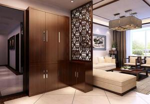 现代中式风格大户型精致室内客厅隔断装修效果图