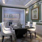 美式田园风格别墅型精致室内餐厅装修效果图