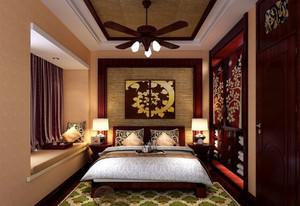 东南亚风格大户型精致室内卧室飘窗装修效果图