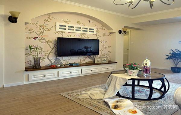 美式田园风格80平米公寓装修效果图赏析