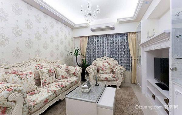 小户型欧式田园风格精致公寓装修效果图赏析