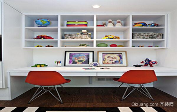 80平米现代简约风格小书房装修效果图