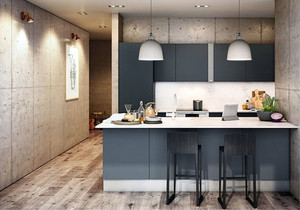 极简主义风格80平米室内开放式厨房装修效果图