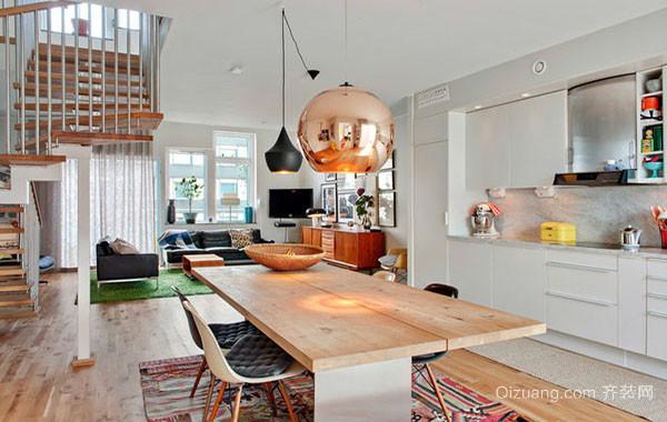 70平米小户型北欧风格简约时尚厨房装修效果图