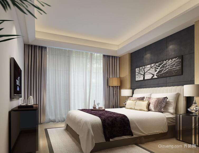 2016别墅型欧式卧室背景墙室内装修效果图欣赏
