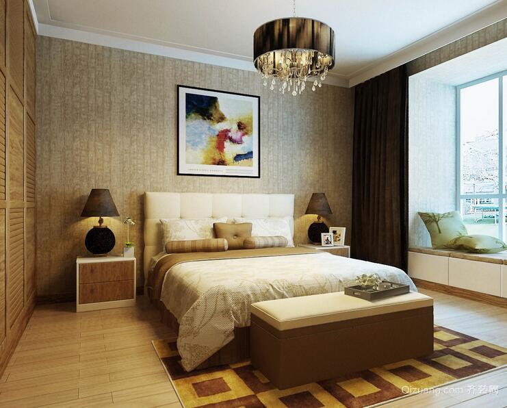 小户型欧式卧室背景墙设计装修效果图欣赏