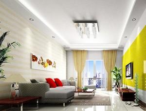 别墅型现代欧式风格客厅吊顶装修效果图