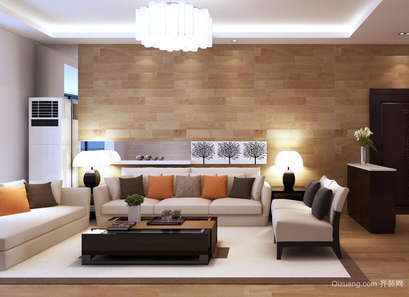 现代简约风格客厅吊顶设计装修效果图