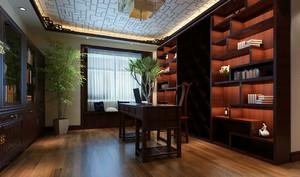中式风格大户型书房博古架装修效果图大全