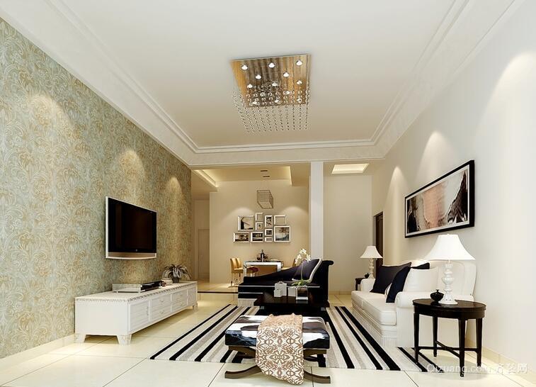90平米大户型欧式客厅室内装修效果图实例