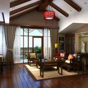 中式风格书房吊顶装修