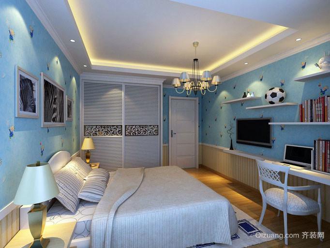 大户型地中海风格自然简约儿童房装修效果图