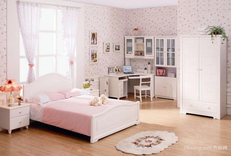 欧式田园风格少女心温馨儿童房装修效果图