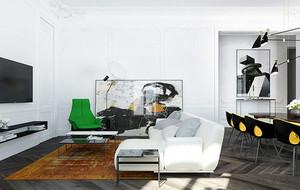 70平米现代简约风格单身公寓装修效果图赏析