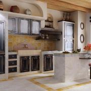 欧式风格小户型厨房设计装修效果图