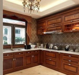 小户型欧式厨房橱柜设计装修效果图欣赏