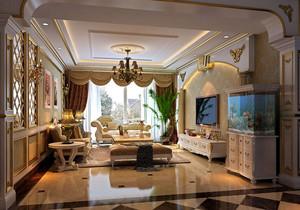 欧式风格别墅客厅吊顶装修效果图