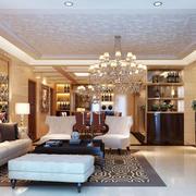 欧式风格精致客厅效果图