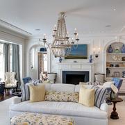 110平米美式田园风格精致时尚客厅装修效果图