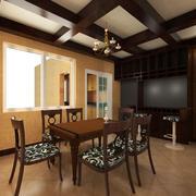 欧式风格别墅型现代餐厅设计装修效果图