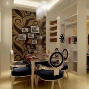 别墅型欧式餐厅背景墙装修效果图欣赏