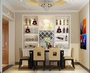 2016小户型欧式餐厅室内装修设计效果图