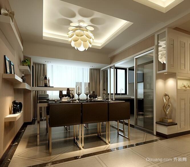 三居室欧式风格餐厅装修效果图欣赏