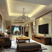 古典欧式风格典雅时尚客厅电视背景墙装修效果图