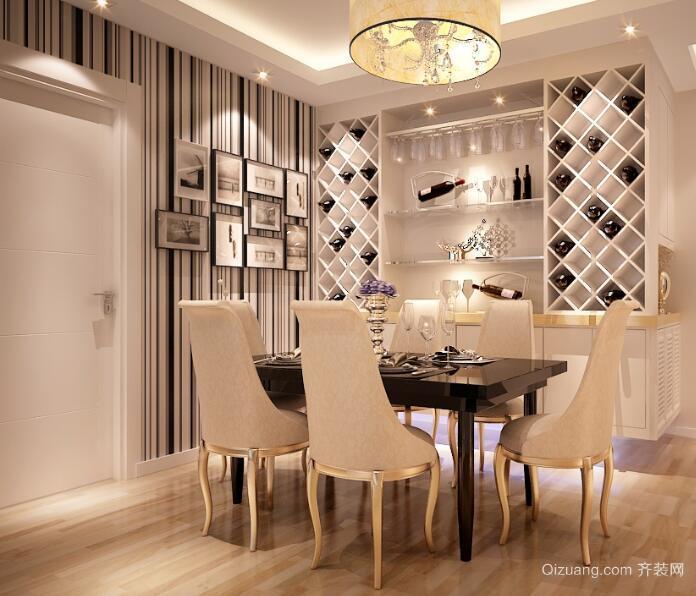 小户型欧式风格室内酒柜设计装修效果图