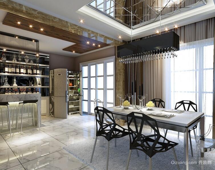 100平米大户型现代都市餐厅酒柜装修效果图