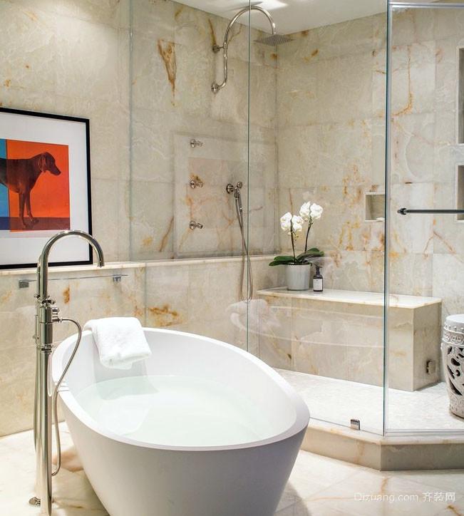 大户型简约风格时尚室内卫生间整体设计效果图