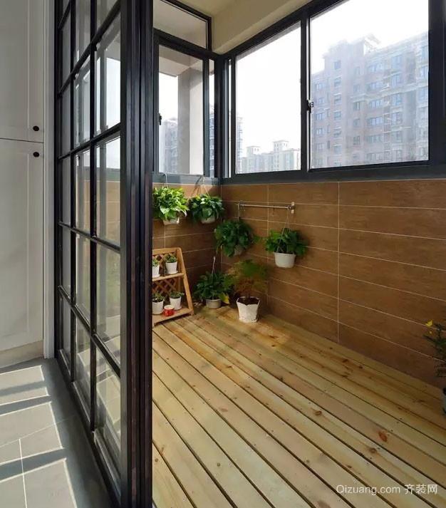92平米简约风格室内阳台装修效果图