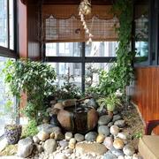 大户型东南亚风格室内阳台装修效果图