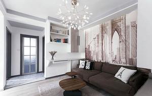 120平米都市简约风格三居室装修效果图赏析