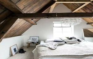 80平米简约风格阁楼两居室公寓装修效果图