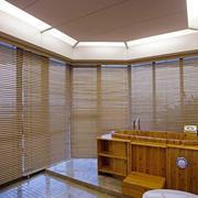日式风格卫生间木质洗手台装修效果图