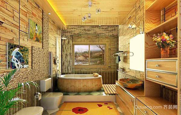 现代时尚日式风格卫生间装修效果图