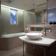质感日式卫生间装修效果图