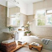 精致明亮日式风格卫生间装修效果图