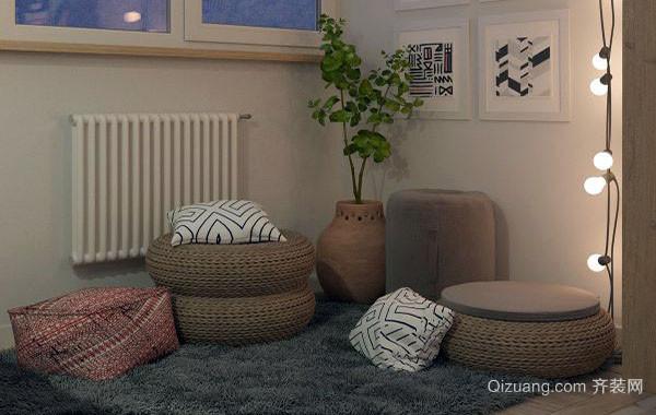 50平米简约风格自然舒适单身公寓装修效果图