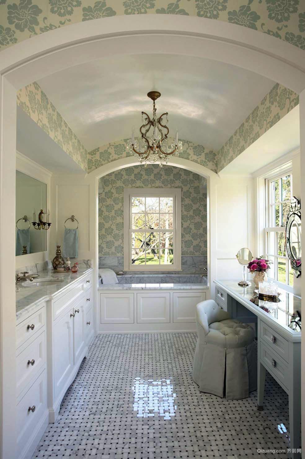 别墅欧式风格精致室内卫生间装修效果图