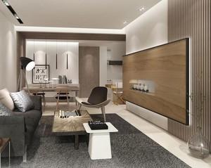 大户型现代简约风格客厅背景墙装修效果图