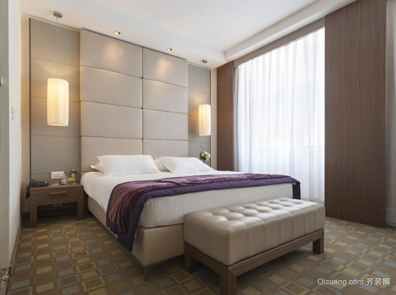 100平米欧式别墅卧室背景墙室内装修效果图